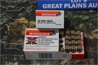2 Full Boxes Winchester .45 Win. Magnum Ammo