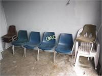 10pc Asst Chairs