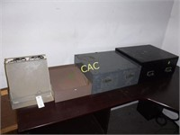 4pc Metal Desk Accessories