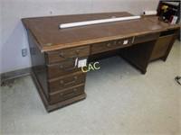 Wooden Desk & Cabinet