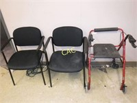 2pc Chairs & 1 Walker