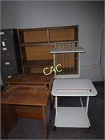 Asst Wood Cabinets/Carts & Old TV