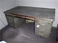2pc Metal Desk
