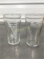 Side Launch Beer Glasses x 11