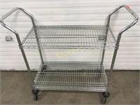 3 Tier Metro Rolling Cart - 3' x 18 x 33/43