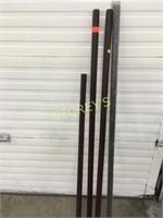 4 Asst Curtain Rods