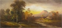 Hudson River Artist Dawn Gouache on Paper Framed