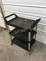 Rubbermaid 3 Tier Black Bus Cart