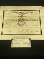 Masonic tapestry and aprons