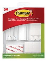 Command 17213ES Picture Hanging Kit, White, 38
