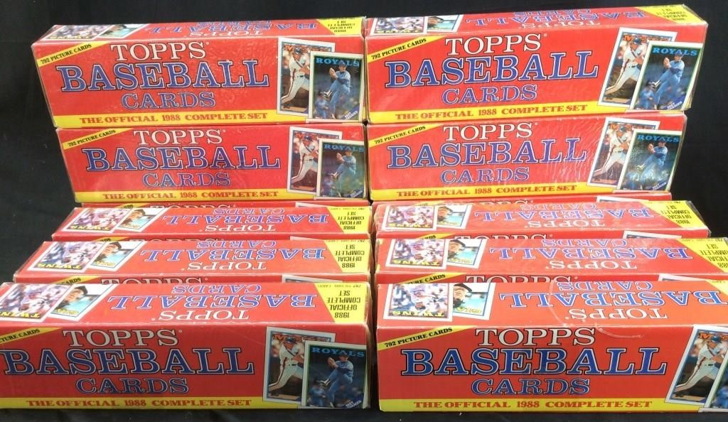 12 1988 Topps Baseball Complete Set 792 Cards Carolina Auction