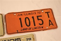 Three 1970s Illinois License Plates   H  K  Keller