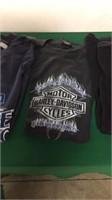 4- Harley Davidson T-Shirts- 3-Lg. & 1-XL