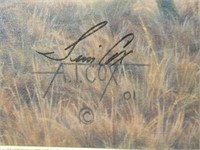 Signed A.Tim Cox Cowboy Gilcee Print on Canvas