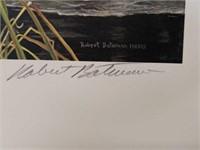 "Signed Robert Bateman ""Mallard Pair-Early Winter"""