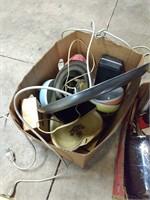 Mac keyboard, glasses, butter knives, bowls, ect