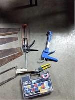 Saws, chalk guns, file, ect