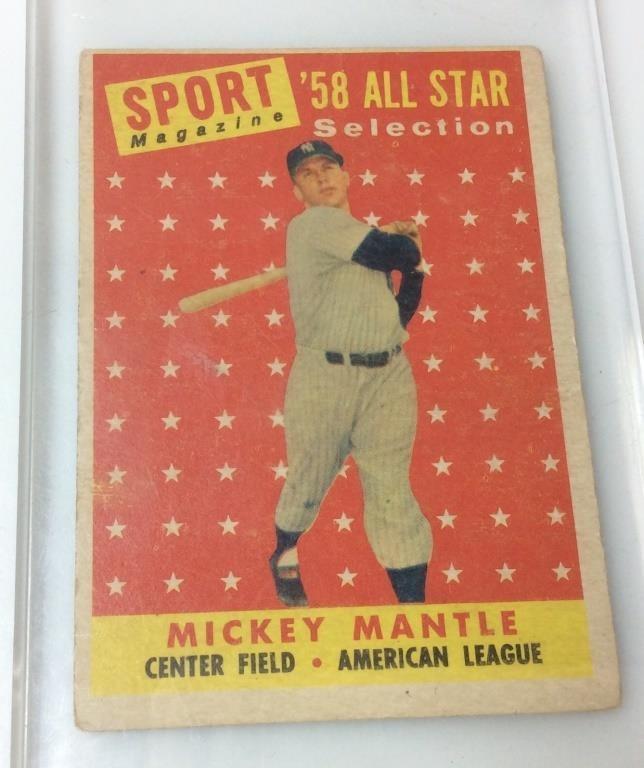 1958 Mickey Mantle Tcg Topps Baseball Card Carolina