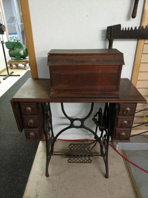Antique treadle High arm June singer sewing | Ryan's Relics