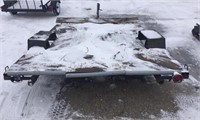 HOMEMADE FLAT DECK TRAILER TOWS GREAT