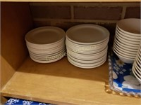 Soup bowls and side plates