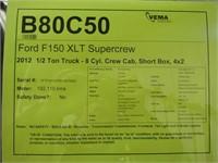 2012 FORD F150 XLT SUPERCREW 4X2