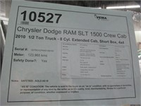 2010 DODGE RAM SLT 1500 QUAD CAB 4X4
