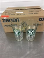 12 Like New Wood Chuck Beer Glasses