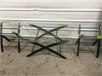 Glass Top Coffee Table & 2 Side Tables
