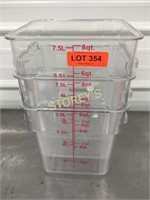 8qrt Food Containers x 3