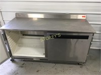 QBD 2dr Refrigerated Work Top Cooler on Wheels