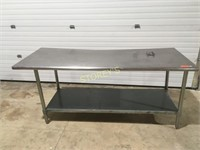 S/S Work Table - 6' x 30