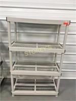 4 Tier Grey Plastic Storage Rack