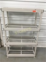 4 Tier Plastic Rack - 36 x 18 x 56