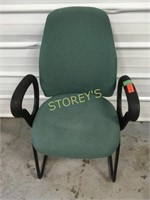 8 Green Cushioned Waiting Chairs