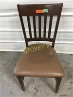 Slat Back Cushioned Dining Chair