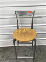 Wood & Metal Bar Stool