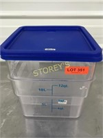 NEW 12qrt Food Container w/ Lid