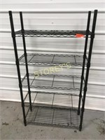 5 Tier Black Metro Rack - 30 x 12 x 55