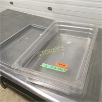 2 Full Size Inserts w/ 1 Lid - Poly