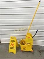 Mop Bucket, Mop, Wringer & 2