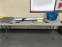 "8' x 30"" Plastic Folding Table"