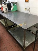 S/S Work Table - 4' x 30