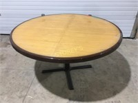 54 Round Bamboo Inlay Table