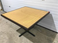 42 x 42 Bamboo Inlay Dining Table
