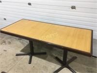 "64"" x 24"" Bamboo Inlay Table"