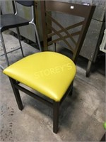 Yellow Padded Metal Dining Chair