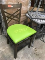 Green Padded Metal Dining Chair