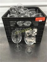 Asst Glassware - wine glasses