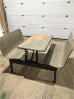 Table w/ Bench Seating - 1 Piece